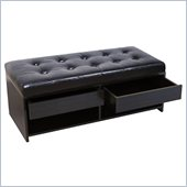Convenience Concepts Designs4Comfort Bench Ottoman in Espresso