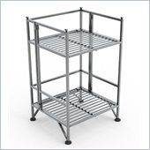 Convenience Concepts XTRA-Storage 2 Tier Folding Shelf in Silver