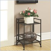 Convenience Concepts XTRA-Storage 2 Tier Folding Shelf in Black