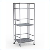 Convenience Concepts XTRA-Storage 3 Tier Folding Shelf in Silver