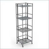 Convenience Concepts XTRA-Storage 4 Tier Folding Shelf in Silver