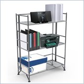 Convenience Concepts XTRA-Storage 3 Tier Wide Folding Shelf in Silver