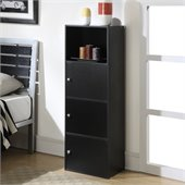 Convenience Concepts XTRA-Storage 3 Door Cabinet in Black