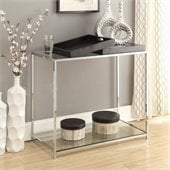 Convenience Concepts Palm Beach Glass Console Table in Black