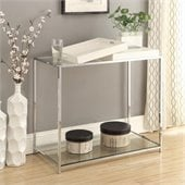 Convenience Concepts Palm Beach Glass Console Table in White