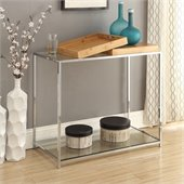 Convenience Concepts Palm Beach Glass Console Table in Bamboo