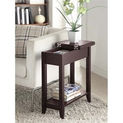Convenience Concepts American Heritage Flip Top End Table - Espresso