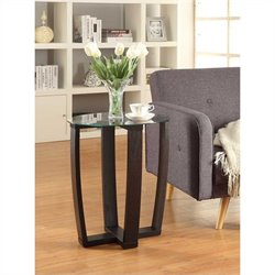 Convenience Concepts Newport Chairside Table - Espresso