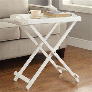 Convenience Concepts Designs2Go Folding Tray Table in White