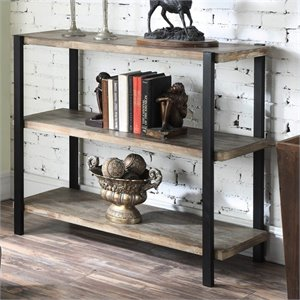 Convenience Concepts Wyoming 3 Tier Console Bookcase in Black Matte