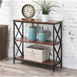 Convenience Concepts Tucson 3 Tier Bookcase in Black and Cherry