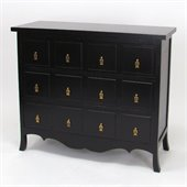 Wayborn Asian Storage 3 Drawer Accent Chest in Antique Black