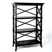 Wayborn Charter 3 Shelf Bookcase in Black