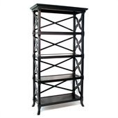 Wayborn Charter 4 Shelf Bookcase in Black