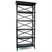 Wayborn Charter 5 Shelf Bookcase in Black