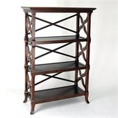Wayborn Charter 3 Shelf Bookcase in Brown