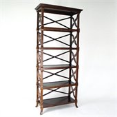 Wayborn Charter 5 Shelf Bookcase in Brown