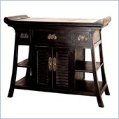 Wayborn Fullhouse Alter Console Table in Antique Black