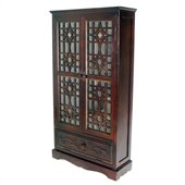 Wayborn Basswood CD Cabinet in Brown