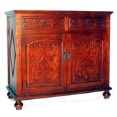 Wayborn Roman Cabinet in Honey Brown
