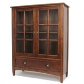 Wayborn 1 Shelf Barrister Bookcase with Glass Door in Brown