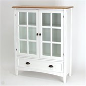 Wayborn 1 Shelf Barrister Bookcase with Glass Door in White 