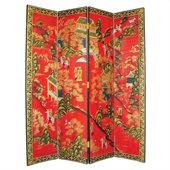 Wayborn Hand Painted Asian Floor Room Divider