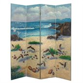 Wayborn Hand Painted 4 Panel Sandpiper Room Divider