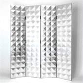 Wayborn Hand Painted Silver Star Room Divider in Silver