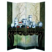 Wayborn Hand Painted Display Of Vase Room Divider