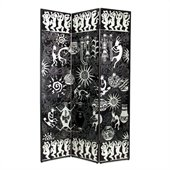 Wayborn Santa Fe Design Room Divider in Black/Silver