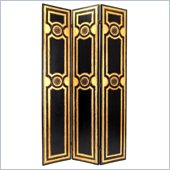 Wayborn Classic Scroll Room Divider in Black/Gold