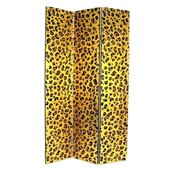 Wayborn Golden Cheetah Look Room Divider in Gold/Black