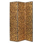 Wayborn Cheetah Look Room Divider in Gold/Black
