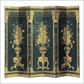 Wayborn Floral Display Room Divider in Black/Gold
