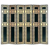 Wayborn Room Divider in Black/Gold