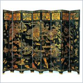 Wayborn Summer Palace Room Divider in Black/Gold