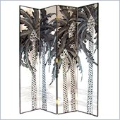 Wayborn Palm Room Divider in Silver/Black