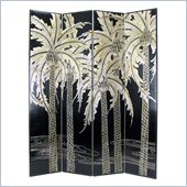 Wayborn Palm Room Divider in Black/Silver