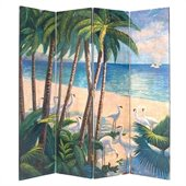 Wayborn Hand Painted Beach Room Divider