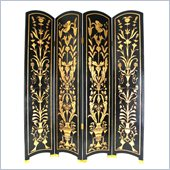 Wayborn Floral Vine Room Divider in Black/Gold