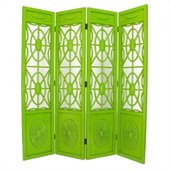Wayborn Spider Web Room Divider in Green
