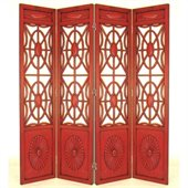Wayborn Spider Web Room Divider in China Red