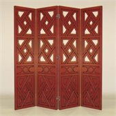 Wayborn Windmill Room Divider in China Red