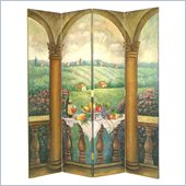 Wayborn Hand Painted Vine Country Room Divider