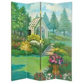 Wayborn Hand Painted The Gazebo Room Divider