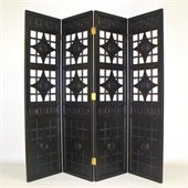 Wayborn Lattice Room Divider in Black