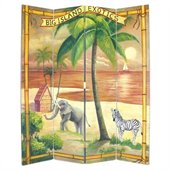 Wayborn Hand Painted The Big Island Room Divider
