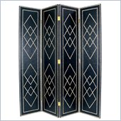 Wayborn Black Diamond Room Divider in Black