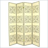 Wayborn Full House Leather Room Divider in Light Beige